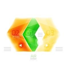 Colorful glossy arrow web box vector