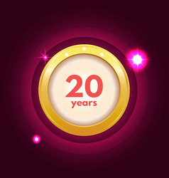 Anniversary 20 icon vector