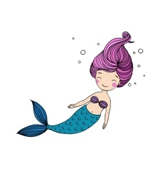 Beautiful little mermaid vector