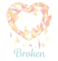 Broken polugonal heart vector