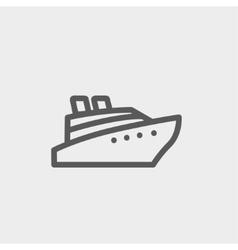 Cruise ship thin line icon vector