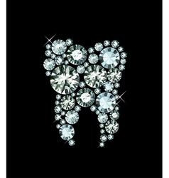 Diamond tooth vector
