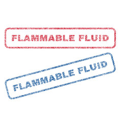 Flammable fluid textile stamps vector