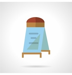 Flat color sandwich board icon vector