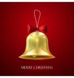 Golden christmas bell vector