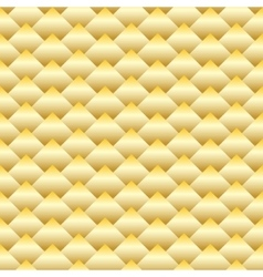 Golden rhombus seamless pattern vector image vector image