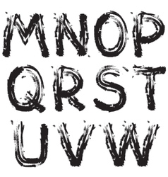 Grunge font next vector