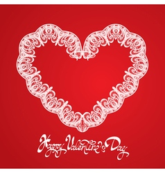 hearts lace 2 380 vector image vector image