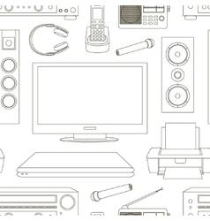 Home technics pattern vector