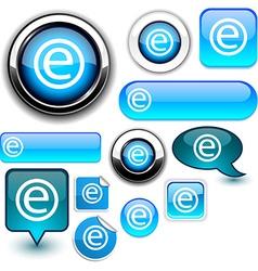 Internet blue signs vector