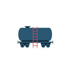 Isolated tanker flat icon container vector