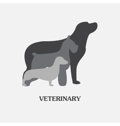 Logo design template for pet shops and vector