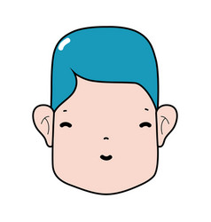 Man head with face and hairstyle vector
