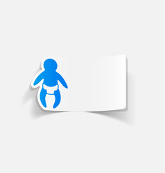 Realistic design element baby vector