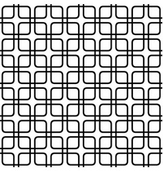 Seamless abstract monochrome grid pattern - vector
