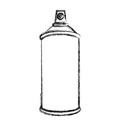 sketch silhouette aerosol spray bottle container vector image vector image