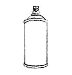 Sketch silhouette aerosol spray bottle container vector
