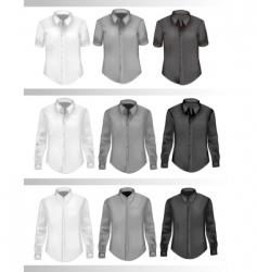 t-shirt set vector image vector image
