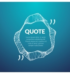 Technology quote poster Place for quote template vector image vector image