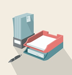 Trays for papers vector