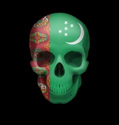 Turkmenian flag skull vector