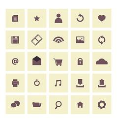 Vintage Website Icons Set vector image vector image