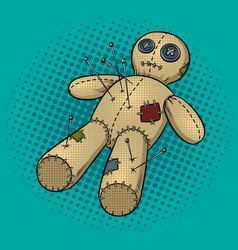 voodoo doll pop art vector image