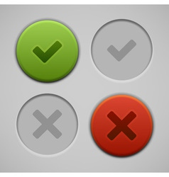 Web site check buttons vector image vector image