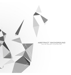 white background with triangle shapes vector image
