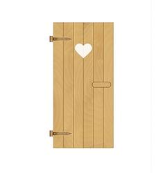 Wooden door with heart vector