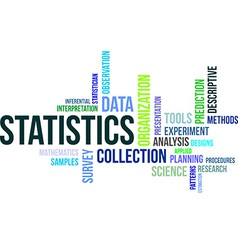 word cloud statistics vector image