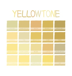 Yellowtone color tone vector