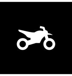 Motocross motorcycle icon vector