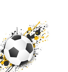Soccer ball football ball with grunge effect vector