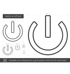 Switch on off line icon vector