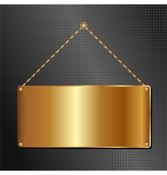 hanging panel vector image