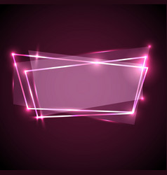 abstract background with pink neon banner vector image