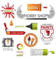 Paint emblems vector