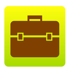 briefcase sign   brown icon at vector image
