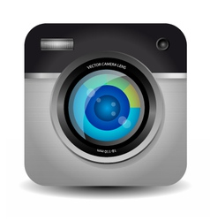 Photo Camera App Icon vector image
