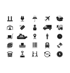 shipping delivery and logistics icons vector image
