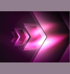 Digital technology glowing arrows vector