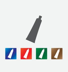Cream tube icons vector