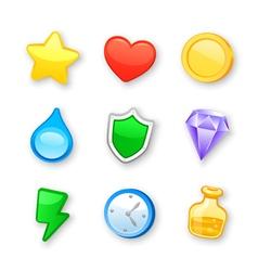 Game art design icons set vector