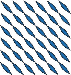 Geometric blue oval pattern vector