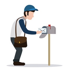 Delivery postman design vector