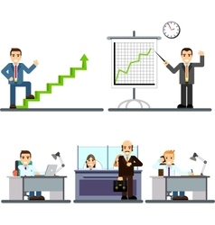 Businessman people in the office vector