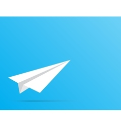 Paper white plane the beginning of the way vector
