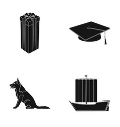 Animal service and other web icon in black style vector