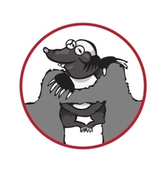 Cartoon character mole isolated on white vector